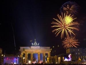 Silvester 2008/09 in Berlin am Brandenburger Tor