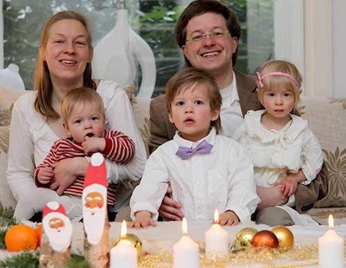 Familien Weihnachtsbild 2013