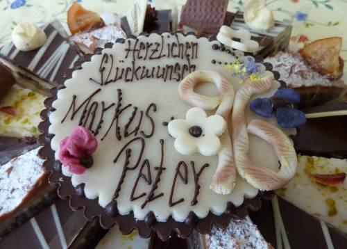 Geburtstagstorte aus der Konditorei Rabien