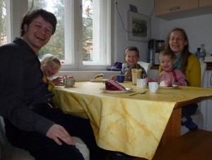 Gemeinsames Familien-Kaffee