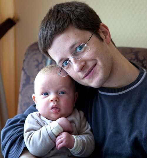 Johannes mit Papa