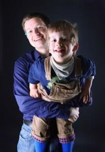 Lukas und Papa