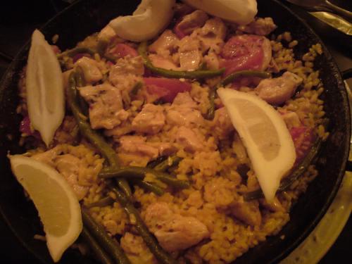 Mexikanisch Essen: Paela con carne