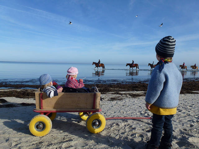 Kinder an der Ostsee - Oktober 2015