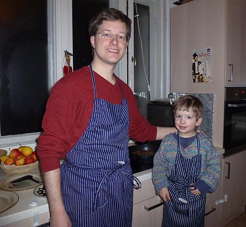 Papa-Sohn-Kochen