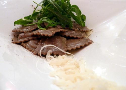Pasta mit Parmesan und Ruccula