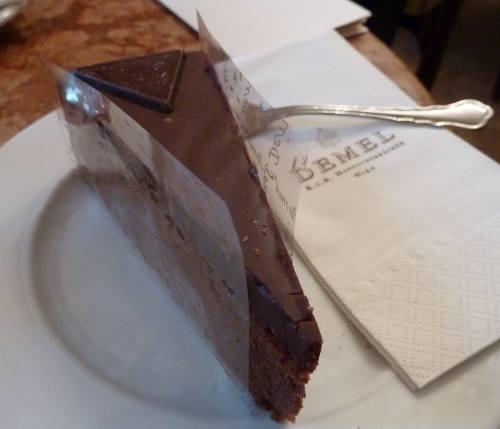 Sachertorte im Cafe Demel